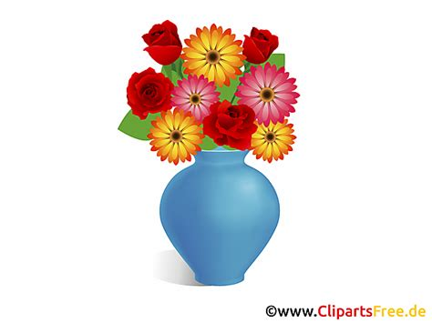 Tulpenstrauß In Vase by Blumenstrauss In Vase Clipart Bild Illustration Grafik