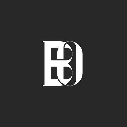 initials bo  ob creative monogram logo linked  weaving letters     business