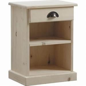 Table De Chevet Bois Brut : table de chevet en bois brut boisnature 39 l ~ Melissatoandfro.com Idées de Décoration