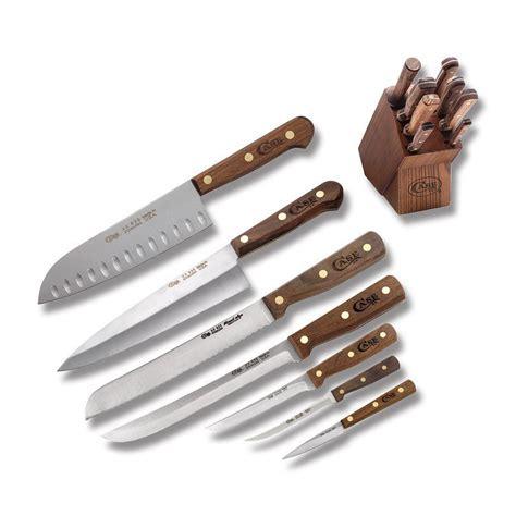 xx kitchen knives xx 9 wooden block walnut stainless kitchen