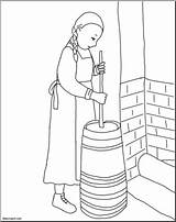 Butter Churn Pioneer Clip Abcteach Sketch Coloring Template Credit Larger sketch template