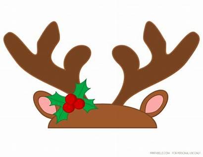 Reindeer Antlers Clipart Antler Printable Template Transparent