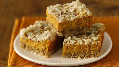 Pumpkin Cake Mix Brownies by Gluten Free Pumpkin Streusel Cheesecake Bars Recipe