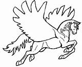 Horse Coloring Flying Fun Horses Printable Template Stumble Tweet sketch template