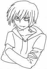 Demon Lineart Boy Anime Characters Deviantart Coloring Base Drawing Easy Chan Template Sketch Printable Chibi sketch template
