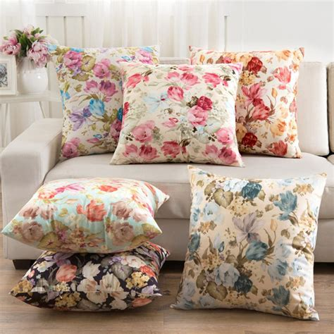 2016 flowers cushions cover home decor pillows new 2016 signature cotton cecorative throw