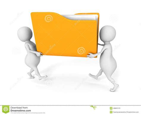 bureau deux personnes deux personnes portent le dossier de fichier papier jaune
