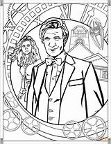 Doctor Coloring Pages Eleventh Tv Printables Printable Smith Matt Adults Adult Weeping Angel Mad Wobbly Wibbly Timey Wimey Series Drawing sketch template