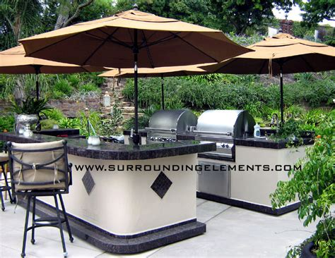 two kitchen islands barbecue islands by surrounding elements custom outdoor