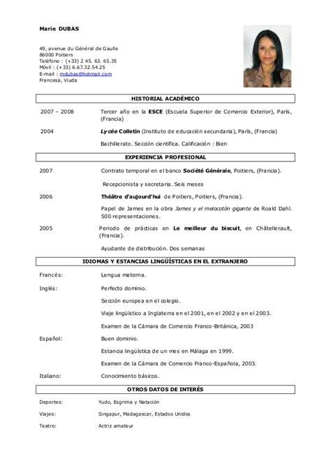 Modelos De Resume by Modelo De Curriculum Vitae Documentado Modelo De