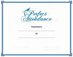 Perfect Attendance Certificate Template Perfect Attendance Award Certificate