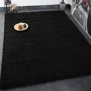 Hochflor Teppich Schwarz : hochflor shaggy teppich modern wohnzimmer lounge unifarbe schwarz top preis ebay ~ Markanthonyermac.com Haus und Dekorationen