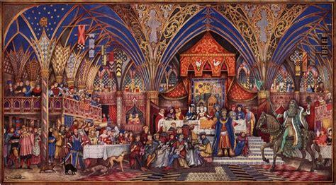 sire gauvain et le chevalier vert illustration par william
