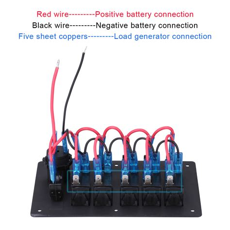 Boat Switch Panel With Breakers by 5 Car Marine Boat Circuit Led Rocker Switch Panel