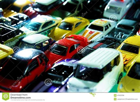 Different Types And Colors Of Toy Cars Editorial Photo