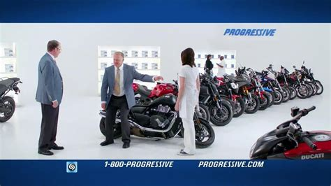 Progressive Tv Commercial, 'falling Motorcycles'