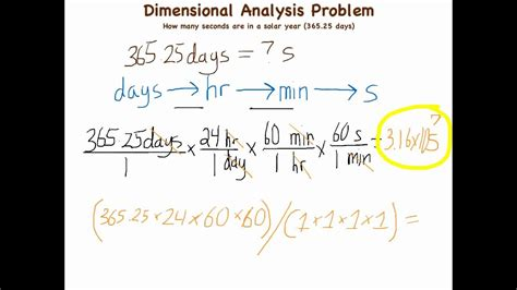 Dimensional Analysis Problems Youtube