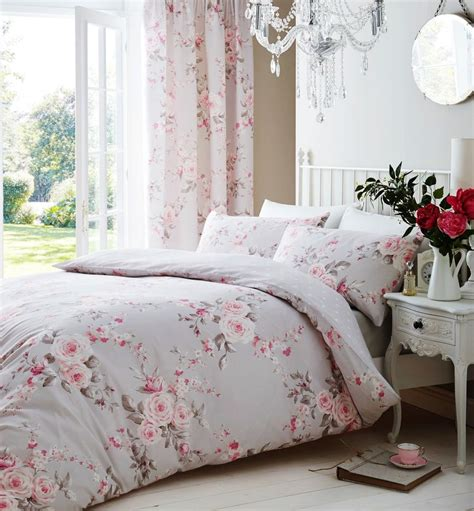 light pink and gray bedding catherine lansfield canterbury grey pink duvet quilt