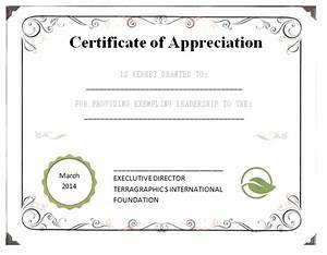 certificates of appreciation free certificate templates With certificate of leadership template