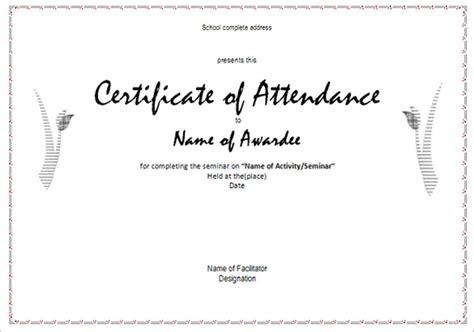 certificate of attendance seminar template 21 attendance certificate templates doc pdf psd free premium templates