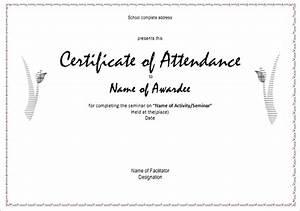 certificate of attendance seminar template - 21 attendance certificate templates doc pdf psd