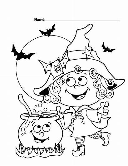 Coloring Halloween Pages Sheets Printable Witch Scribblefun
