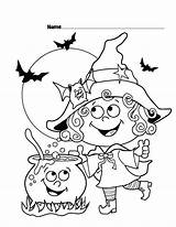 Coloring Halloween Cute Pages Printable Sheets Witch Scribblefun sketch template