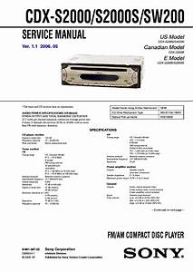 Sony Cdx S2010 Wiring Diagram