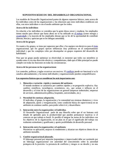 Calaméo - Supuestos Básicos Del Desarrollo Organizacional