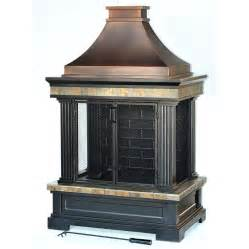 shop garden treasures bronze steel outdoor wood burning fireplace at lowes