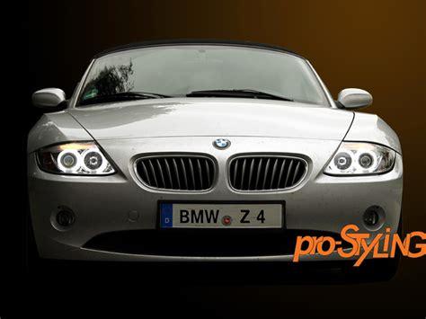 Scheinwerfer Bmw Z4 E85 E86 Ccfl Angel Eyes Klar Chrom (s