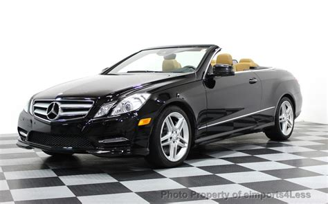 Highlights 4.7l v8 engine automatic transmission up to 17 cty/27 hwy mpg bluetooth mp3 player side/curtain airbags stability control traction control dvd player des. 2013 Used Mercedes-Benz CERTIFIED E550 V8 AMG SPORT CONVERTIBLE P2 NAVI at eimports4Less Serving ...