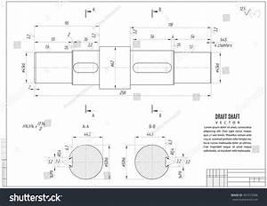 Technical Drawing Shaft Construction Draft Horizontal