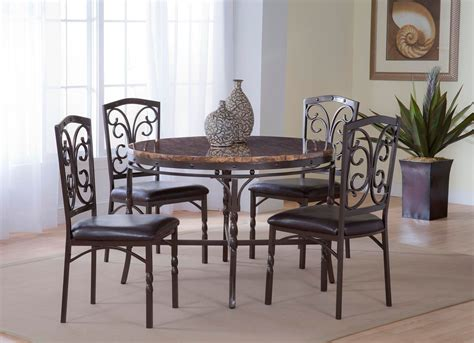 tuscan  piece dinette table   chairs  faux
