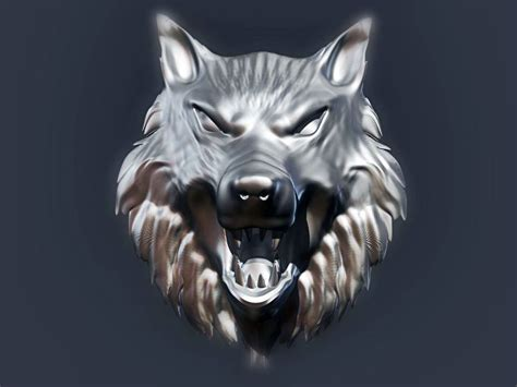 wolf head model printable stl cgtradercom