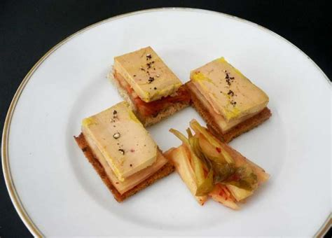 foie gras canape photos canapé foie gras