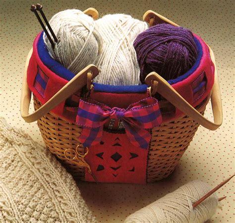 cozy knitting basket pattern allfreesewingcom