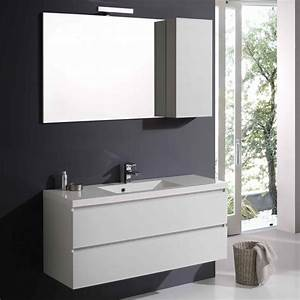 Mobile arredo bagno 120 cm con specchio e pensile kv store for Mobile bagno 120