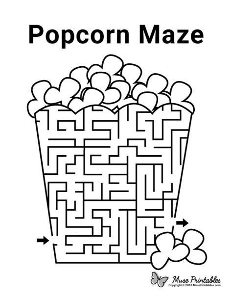 printable popcorn maze    https
