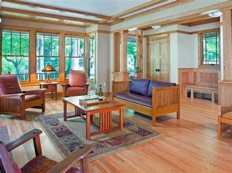 earthy craftsman living room  light oak floors hgtv