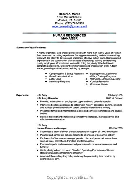 Resume Templates G by Simple Army Resume Exles Army Resume Sle Yun56co