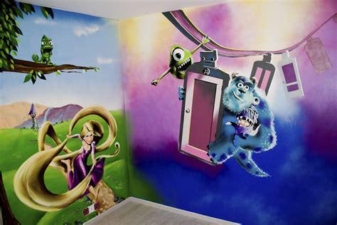 theme pour chambre décoration graffiti disney