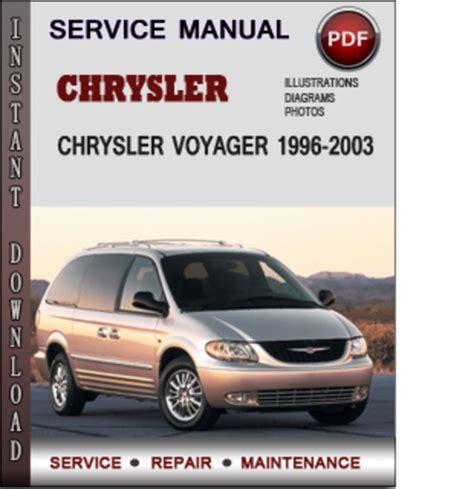 motor repair manual 2000 chrysler voyager user handbook chrysler voyager 1996 2003 factory service repair manual download pdf tradebit