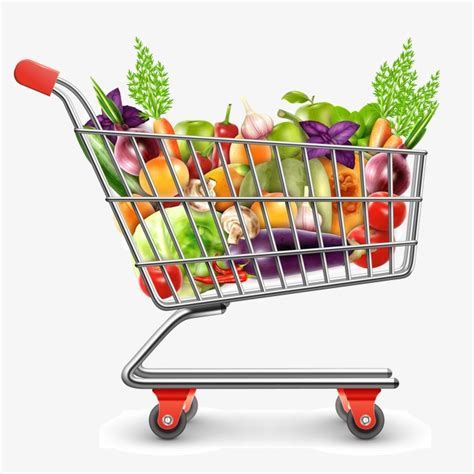 Shopping Cart Clipart Shopping Cart Vegetables Fruit Png Image And Clipart For