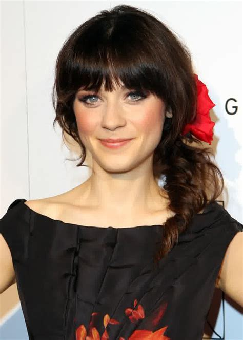 Celebrity Hairstyles: Zooey Deschanel Hairstyles Side With