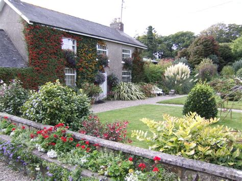 house and garden uk file coolaught house front garden in autumn geograph