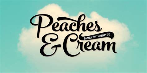 fontspring peaches  cream fonts  fenotype