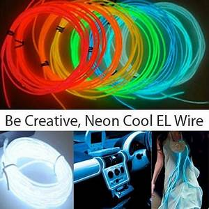 10ft El Wire Sound Activated 3 mode Neon EL Wire Kits