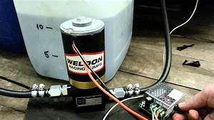 Weldon D2025a Fuel Pump And Pwm Controller Test