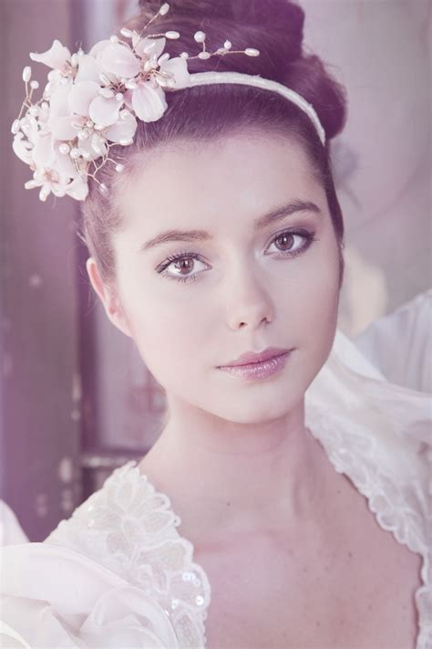 wedding hairstyles  headpiece elle hairstyles